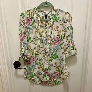 Kut from the kloth floral button up blouse.
